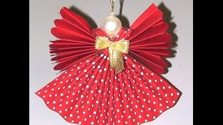 getlinkyoutube.com-Anjo de tecido com tecnica de endurecimento - Angel of Christmas fabric