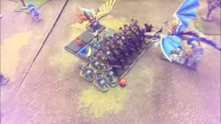 getlinkyoutube.com-Kings of War Battle Report 12 - Kingdom of Men Vs Elves