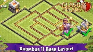getlinkyoutube.com-Clash Of Clans: TH11 | BEST Farming Base Layout (With GW and Eagle Artillery) - Rhombus 11