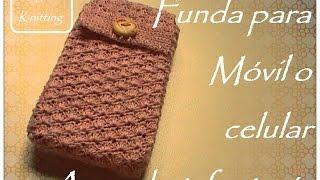 getlinkyoutube.com-Funda para móvil o celular a crochet: fantasía (diestro)