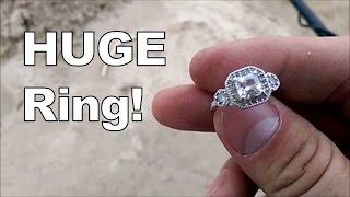 getlinkyoutube.com-Huge ring found metal detecting Lake Michigan beach!