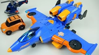 getlinkyoutube.com-TOBOT Airplane 또봇 마하 W - TOBOT transformers car & plane toys