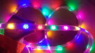 getlinkyoutube.com-Horribly flickery LED horse-race star strip with schematic.  (Epilepsy risk)