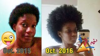 getlinkyoutube.com-1 Year Natural Hair Growth | Pics & Videos After the BIG CHOP!