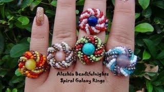 getlinkyoutube.com-Spiral Galaxy Beaded Ring Tutorial