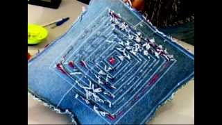 getlinkyoutube.com-Recycled Jeans Cushion 1/4 (Recycled Denim)