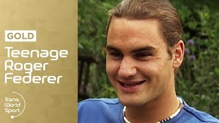 getlinkyoutube.com-Teenage Roger Federer on Trans World Sport