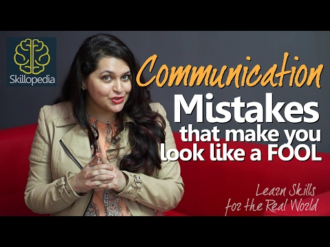 Improve communication skills - Don't look like a fool | Speak Confidently | Personality Development