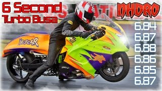 "getlinkyoutube.com-6 second turbo Suzuki Hayabusa, ""NO FEAR"" Pro Street motorcycle"
