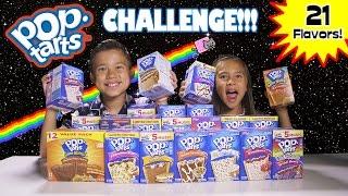getlinkyoutube.com-POP TART CHALLENGE!!! 21 Flavor Taste Test!