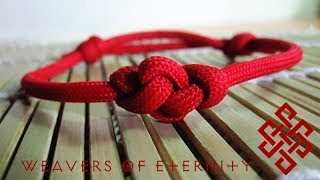 getlinkyoutube.com-How to Tie an Eternity Knot Paracord Bracelet Tutorial