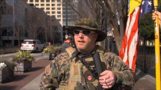getlinkyoutube.com-Three Percenter Militia rally outside CNN offices, February 6, 2016
