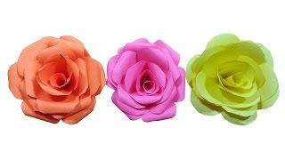 getlinkyoutube.com-How to make paper Rose Flower (very easy) - HD