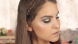 getlinkyoutube.com-TUTORIAL - Maquilhagem verde soft | Sara Ferreira