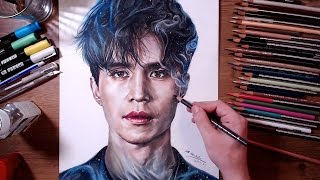 getlinkyoutube.com-Dokkaebi : Grim Reaper(Lee Dong-wook) - Colored pencil drawing | drawholic