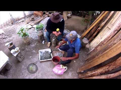 Reportajes de Alvarado - Artesanía en piedra de río