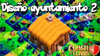 getlinkyoutube.com-Diseño aldea ayuntamiento nivel 2 Clash of clans