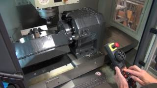 getlinkyoutube.com-CNC Machine 5 AXIS Manual Operation (Making Sharp Aluminium Edge)