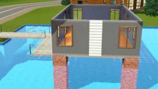 getlinkyoutube.com-Sims3 Build a house over swimming pool tutorial