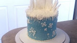 getlinkyoutube.com-FROZEN Elsa Theme Birthday Cake. Cake Decorating