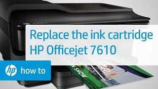 getlinkyoutube.com-Replacing a Cartridge in the Officejet 7610