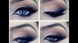 getlinkyoutube.com-Макияж для голубых/карих/зелёных глаз. Makeup tutorial.