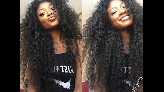 getlinkyoutube.com-Hair So Fab❤️Passion Wave Hair 2 Part Partial Vixen Sewin