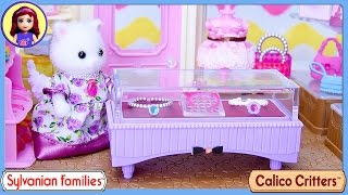 getlinkyoutube.com-Sylvanian Families Calico Critters Boutique Unboxing Review - Kids Toys
