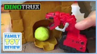 getlinkyoutube.com-Dinotrux Smash & Slide Construction Site Ty Rux Dinotrux Surprise D-Structs juguetes FamilyToyReview