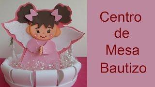 getlinkyoutube.com-Centro de mesa para bautizo (Centerpiece Christening)