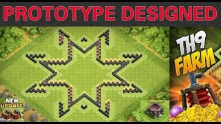 getlinkyoutube.com-Clash of Clans - (BEST) TH9 Farming Base 2015 w/ 2 Air Sweeper + Speed Build (STARS)
