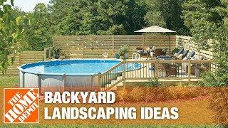 A video about backyard landscape ideas.