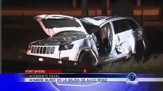 Accidente fatal en Alico Road