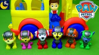 Paw Patrol Mission Paw Go To School Funny Toys Stories Video for Kids Mickey Mouse School Bus Toys
