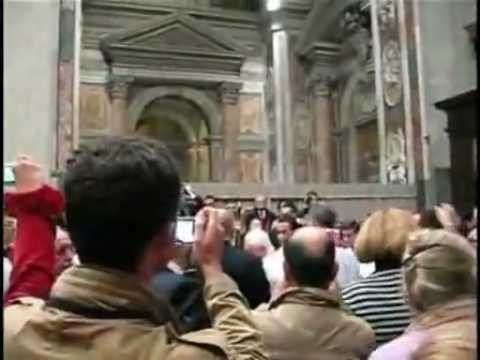 Attack on pope Benedict XVI during Christmas Mass  Pope fell to the floor