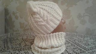 getlinkyoutube.com-Шапка спицами. КотоШапка. Часть 1.   // Knitting for kids // How to knit a hat