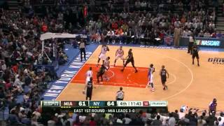 getlinkyoutube.com-Lebron James Dwyane Wade combined 49 points vs NY Knicks full highlights NBA Playoffs 2012.05.06