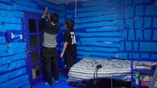 getlinkyoutube.com-部屋が青くなるドッキリ All Blue Prank