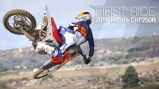 getlinkyoutube.com-2016 Honda CRF250R First Ride - MotoUSA