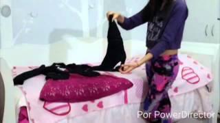 getlinkyoutube.com-Disfrazate de Mal y Evie con cosas que tienes en Casa 💜 Mundo de Chicas