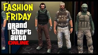 getlinkyoutube.com-@RockstarGames WHY? GTA 5 Online FASHION FRIDAY! Best Military Outfits PATCHED!