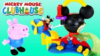 getlinkyoutube.com-Mickey Mouse Clubhouse Peppa Pig Toy Episodes Disney Fly 'n Slide Playground by Fisher-Price