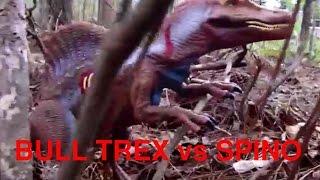 getlinkyoutube.com-Jurassic Park 3: Bull TRex Encounter Part 2 Spinosaurus joints