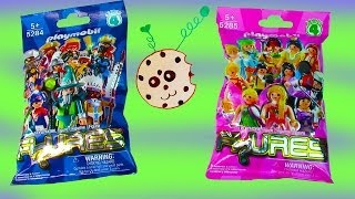 getlinkyoutube.com-Playmobil Blind Bag Opening Series 4 Mystery Surprise Packs Girls Boys Collection Set toy Review