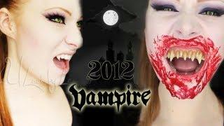 getlinkyoutube.com-Pretty Vampire Makeup Tutorial 2012