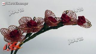 getlinkyoutube.com-HOW TO: DIY Net Flower Bunch - JK Arts 439