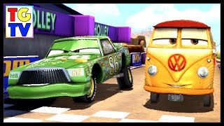 getlinkyoutube.com-Disney Pixar Cars Fast as Lightning Fillmore vs Chick Hicks, Komodo