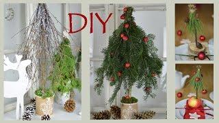 getlinkyoutube.com-DIY - Winterdeko basteln: Bäume aus Zweigen und Ästen I Weihnachtsdekoration I Tischdeko I How to