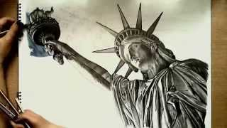 getlinkyoutube.com-Realistic Drawing: Statue of Liberty