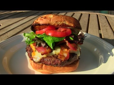 Jacked Up Blueberry Chipotle Muenster Burger